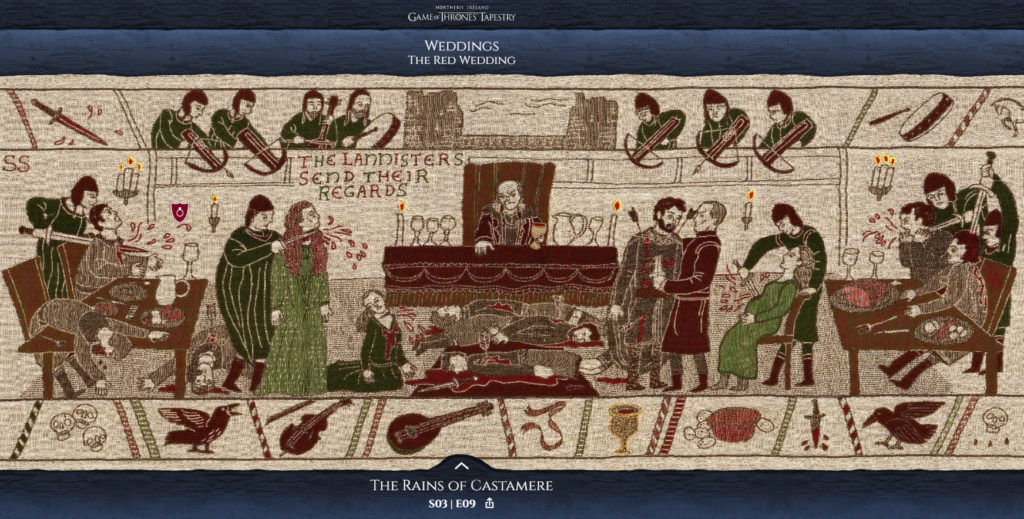 Incredible Interactive 250ft Game of Thrones Tapestry - Relive Every Season, Every Episode, Every Epic Moment ...