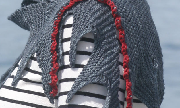 Knit a Shark Bite Shawl – This Jagged Little Wedge Is So Creative and 100% Knitworthy!