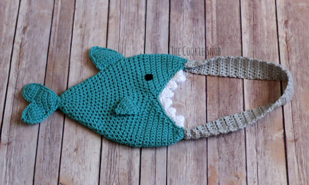 Crochet a Shark Bag – It's Got a BIG Bite and the Pattern is FREE!