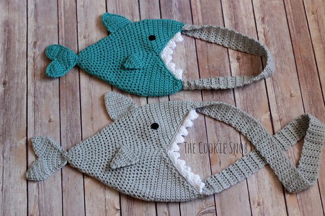 Crochet a Shark Bag - It's Got a BIG Bite and the Pattern is FREE!