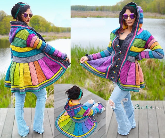 A Rainbow Dream Coat Like You've Never Seen – You'll Want This On Your Crochet Hook Today!