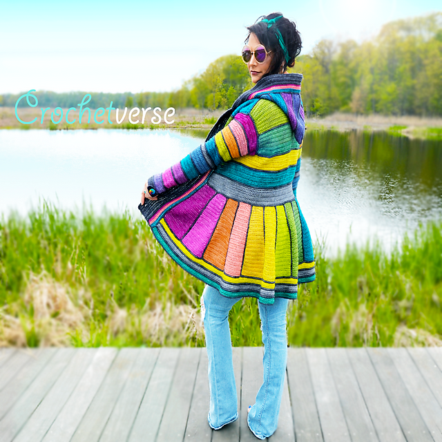 A Rainbow Dream Coat Like You've Never Seen - You'll Want This On Your Crochet Hook Today!