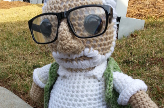 She Crocheted a George Romero Amigurumi – RIP to the Godfather of All Things Zombie