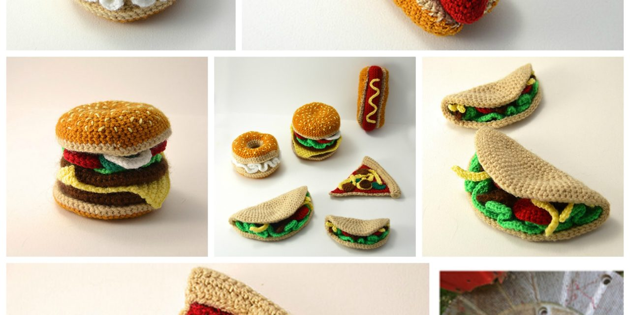 Finn's Pick: Crochet Hamburger, Hotdog, Bagel, Taco, Pizza – His All-Time Faves!