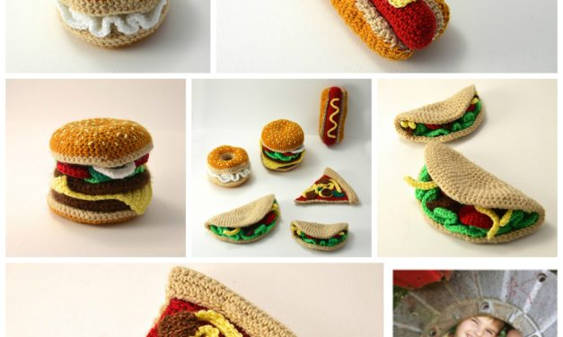 Finn's Pick: Crochet Hamburger, Hotdog, Bagel, Taco, Pizza – His All-Time Faves!