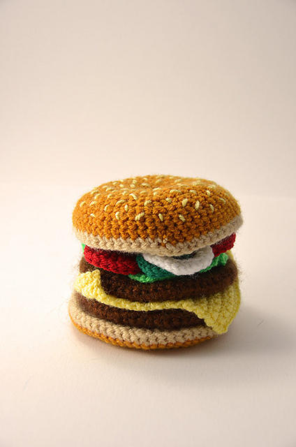 Crochet Hamburger, Hotdog, Bagel, Taco, Pizza