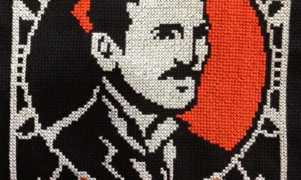 Happy Birthday, Nikola Tesla! This Cross-Stitch Portrait is Perfect To Mark the Day!