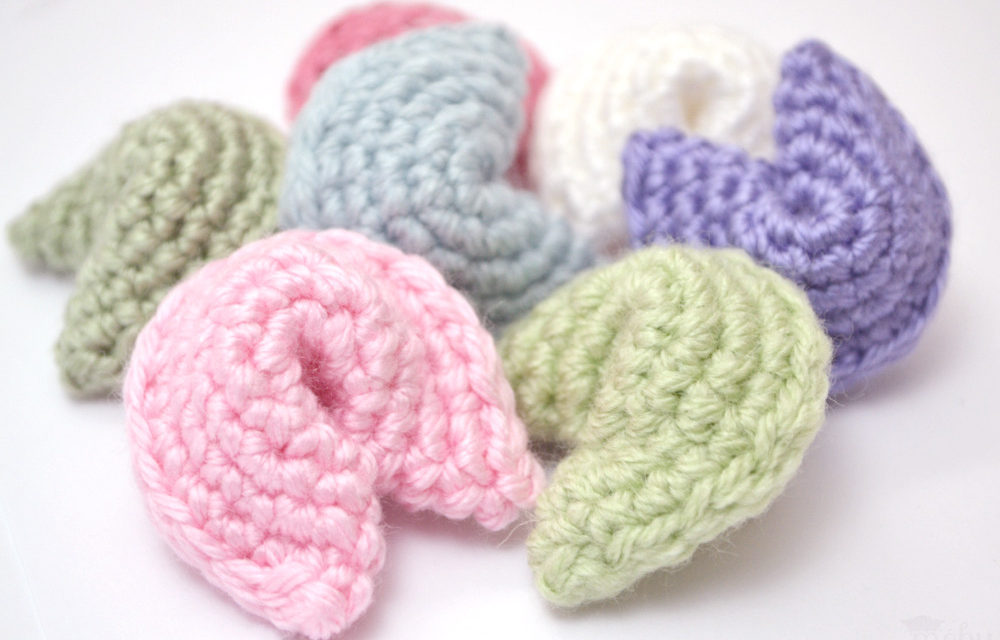 Crochet a Fortune Cookie – So Easy, You'll Want to Make More Than One! Free Pattern!