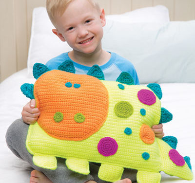 "Crochet a ""Roarrry Dinosaur"" by Debra Arch – So Cheerful and Fun!"