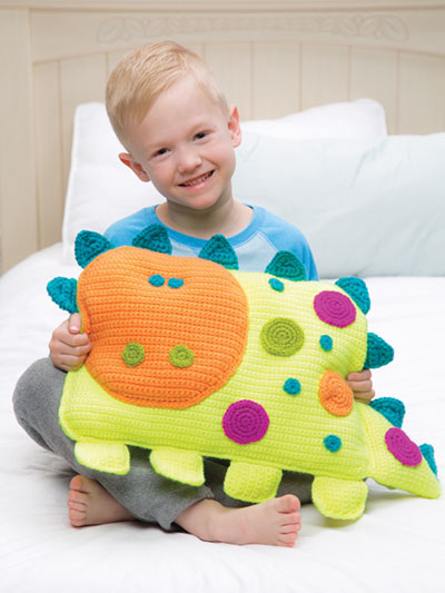 "Crochet a ""Roarrry Dinosaur"" by Debra Arch – So Cheerful and Fun!"