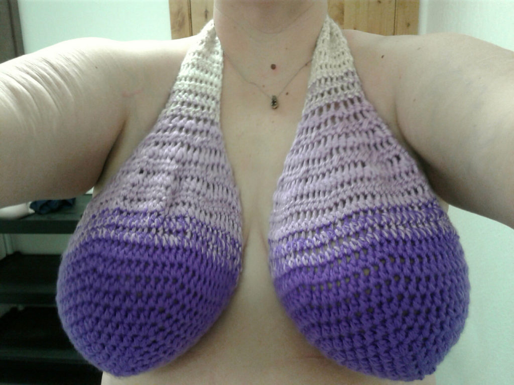 You've Seen the Famous Ta-Ta Towel ... One Designer Created a Crochet Version, Meet the Booby Hammock Bra