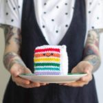 She Crocheted a Rainbow Cake Amigurumi – So Cute!