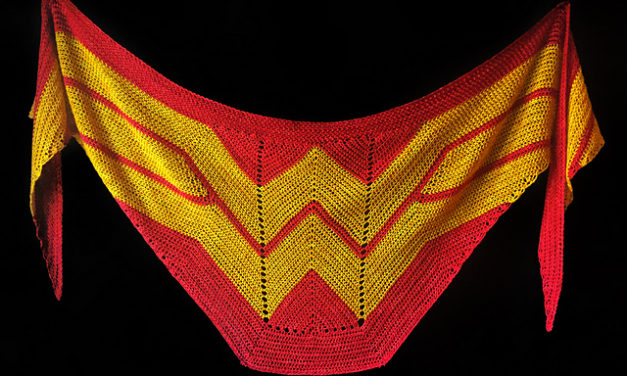 Must-Make Wonder Woman Wrap by Carissa Browning Now Available in Crochet – the Pattern is FREE! Alerts!