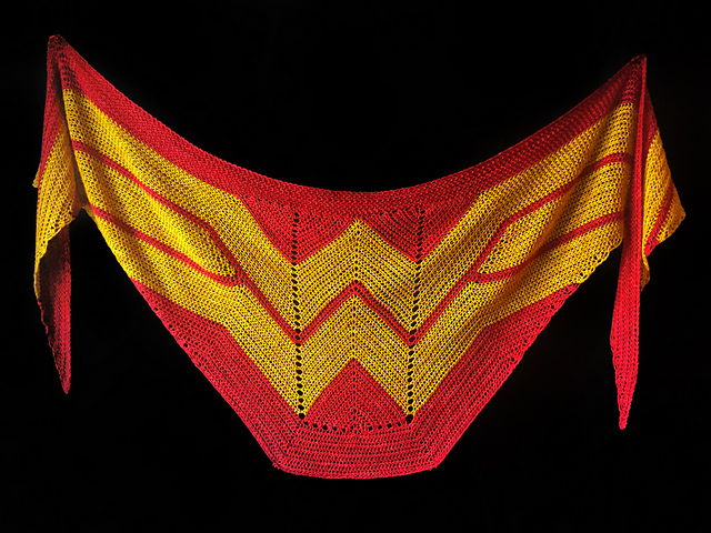 Must-Make Wonder Woman Wrap by Carissa Browning Now Available in Crochet ? the Pattern is FREE!