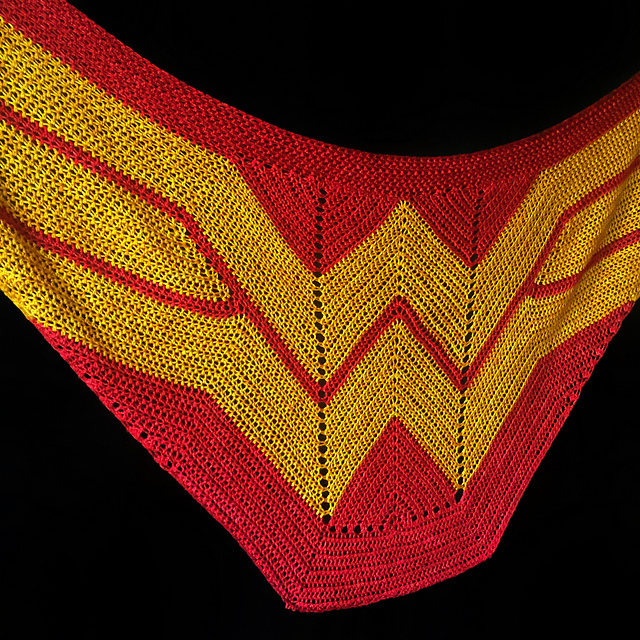 Must-Make Wonder Woman Wrap by Carissa Browning Now Available in Crochet - the Pattern is FREE! Alerts!