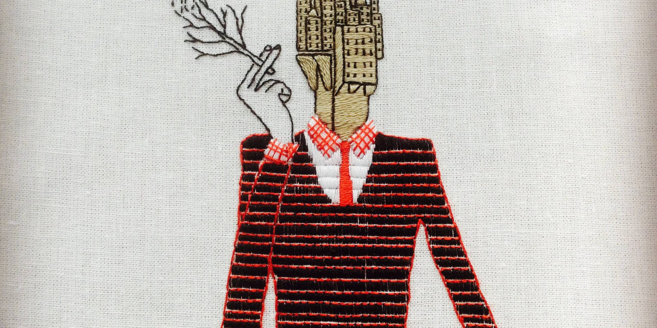Katya Yatsuk Embroidered This … Inspired By Italian Illustrator Toni Demuro