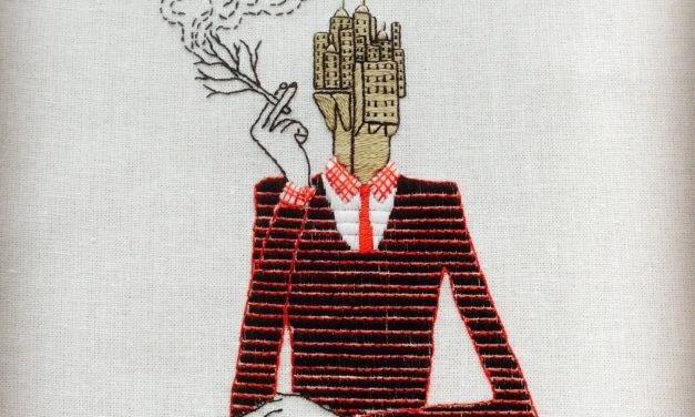 Katya Yatsuk Embroidered This … Inspired By Italian Illustrator Toni Demuro