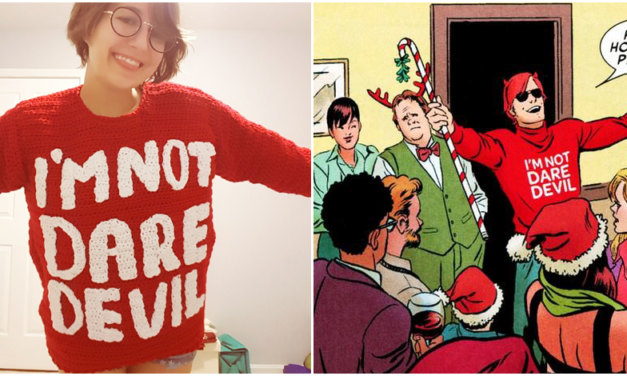 She Needed the Perfect Sweater to Binge Watch Marvel's The Defenders So She Crocheted This