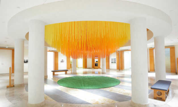 That Time When HOTTEA Visualized the Sun With 14,000 Strands of Yarn