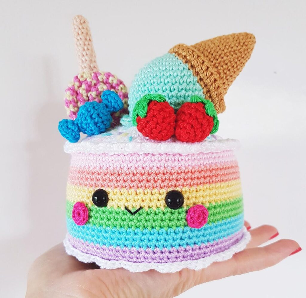 Crochet A Rainbow Cake Amigurumi - So Cute!