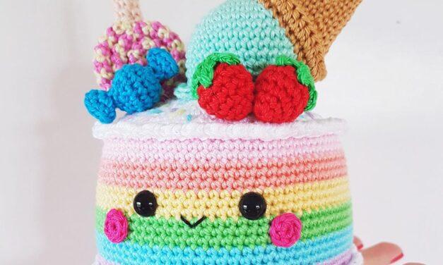 Crochet A Rainbow Cake Amigurumi – So Cute!