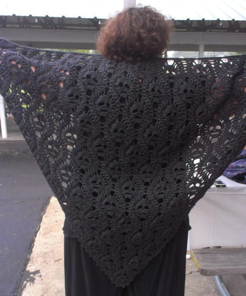 Crochet This Spine-Tingling Lost Souls Skull Shawl For Halloween