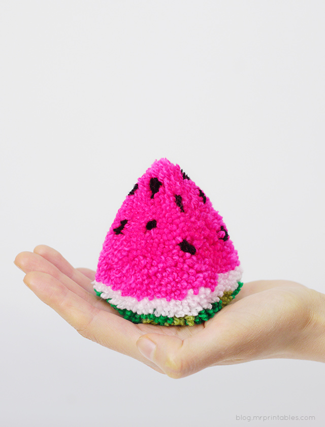 How to Make a Watermelon Pom Pom
