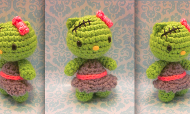 She Crocheted a Frankenstein Hello Kitty Amigurumi