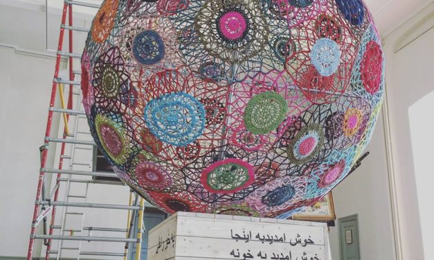 "She Crocheted the World's Biggest Sphere to Share a Critical Message … ""Wait Stay"" by Elisabeth Bucht (Garnapa)"
