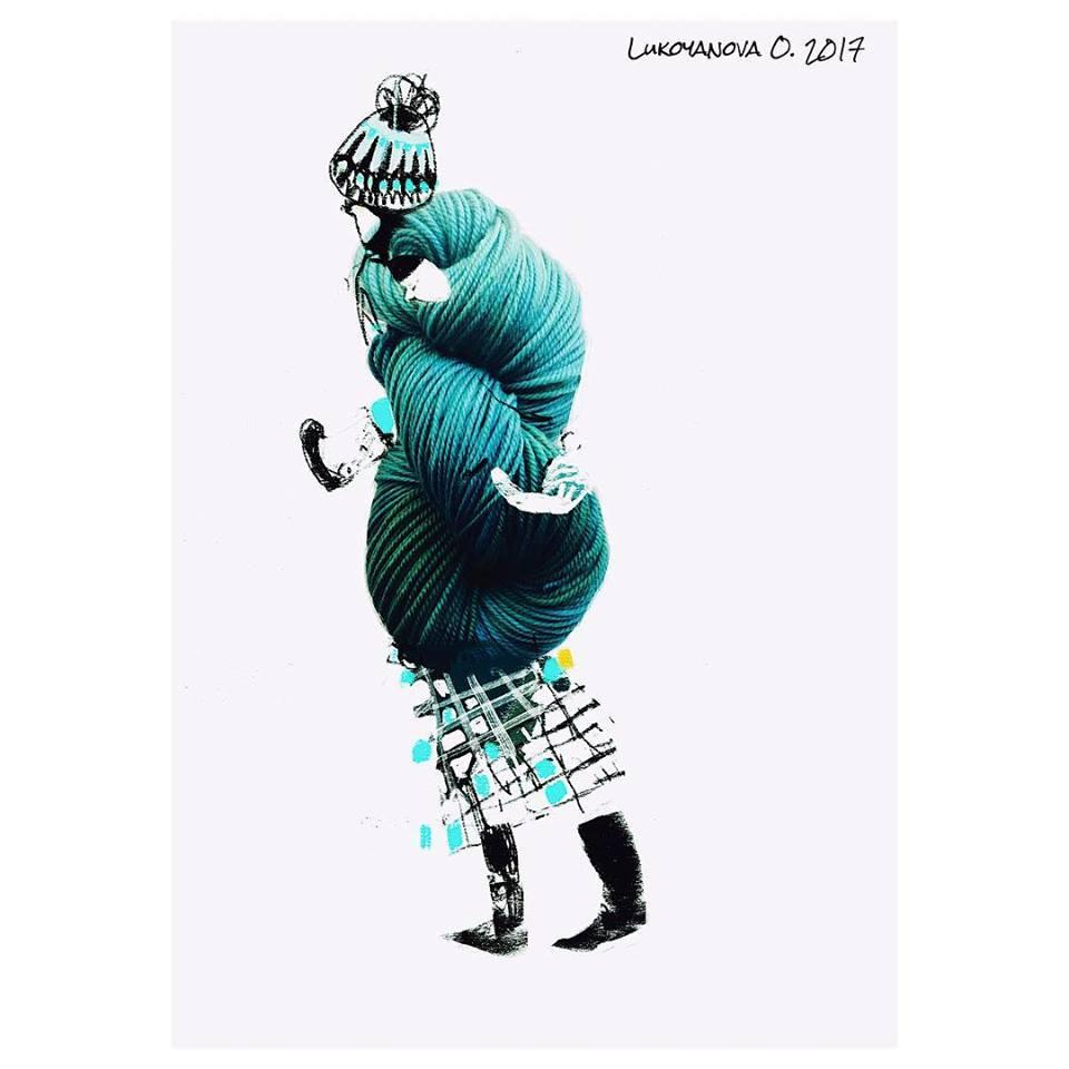 Olga Lukoyanova's Unique Illustrations for Gloria Yarn - Hanks Have Never Looked So Good
