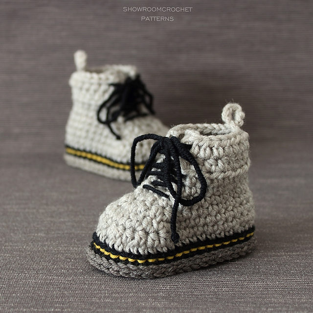 The Doctor Is In … These Baby Doc Martens are Fun AF and There's Even a Crochet Pattern!