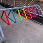 Rainbow Bike Rack Yarn Bomb – This Is Tight!