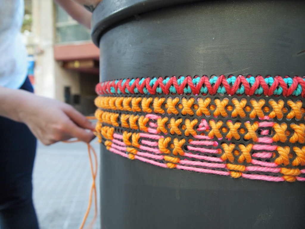 Street Embroidery in Spain