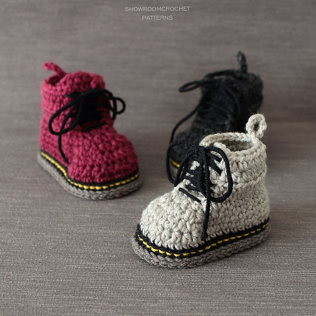 The Doctor Is In ... These Baby Doc Martens are Fun and There's Even a Crochet Pattern!