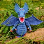 Challenge Your Crochet Skills With This Striking Blue Dragon Amigurumi