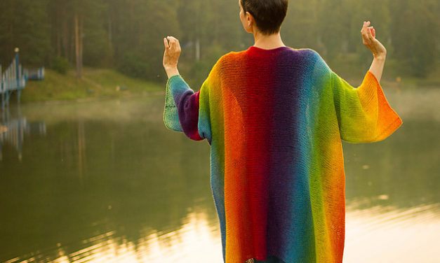 You'll Want To Knit This Rainbow-Beautiful Cardigan When You See It – That Drape!