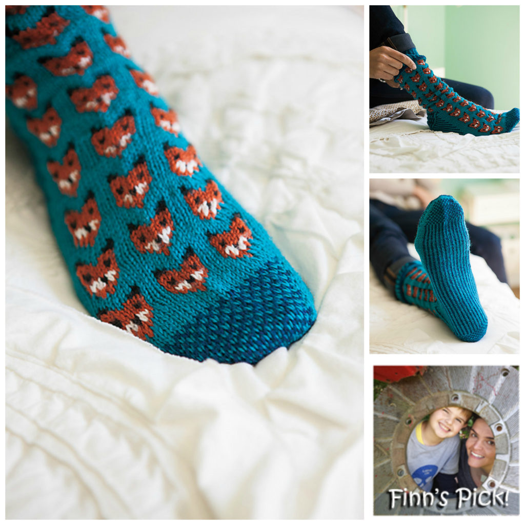 Fun Knitted Fox Sox With a Terrific Two-Tone Sole