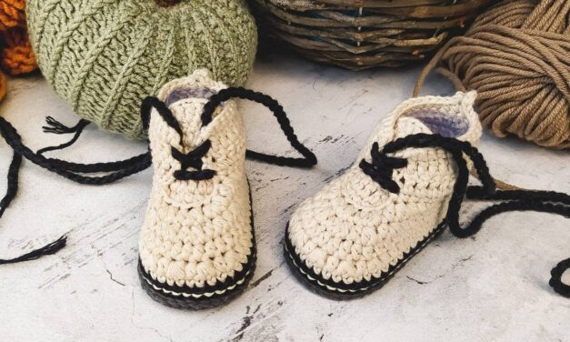 The Doctor Is In … These Baby Doc Martens are Fun and There's Even a Crochet Pattern!