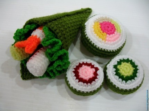 Crochet Sushi Set By Sky Magenta - Get the Pattern!