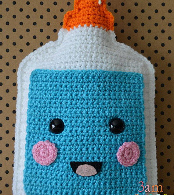 Adorable White Glue Bottle Amigurumi In Time For Back To School – Get the Free Crochet Pattern!