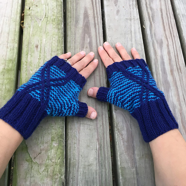 Love Spiders? Knit a Nerdy Pair of Fingerless Argiope Spider Mitts!