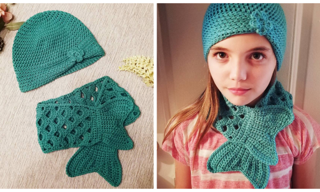 Crochet a Magical Mermaid Hat & Scarf Set She'll Love Forever 🧜‍♀️