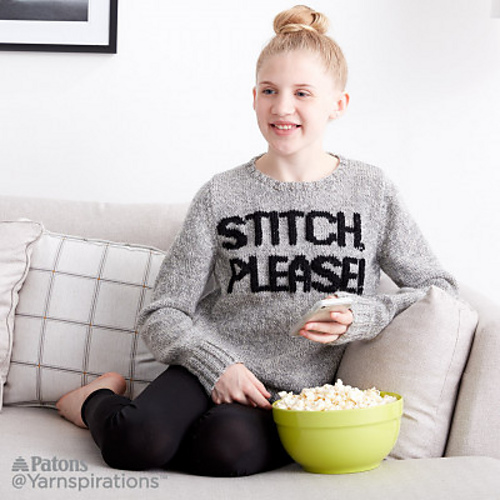"Hey Knitters, This ""Stitch, Please!"" Sweater is For You – FREE PATTERN ALERT!"