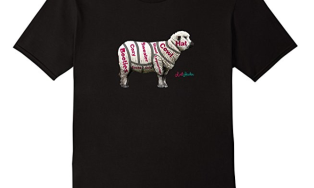 Cut of the Sheep Chart T-Shirt For Knitters & Crocheters