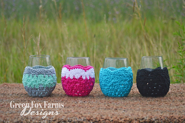 Free Wine Glass Holder Patterns For Crocheters