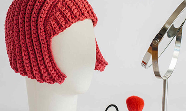 This Crochet Wig Reminds Me of Yayoi Kusama's Bright Red Bob … and Halloween is Coming You Know …