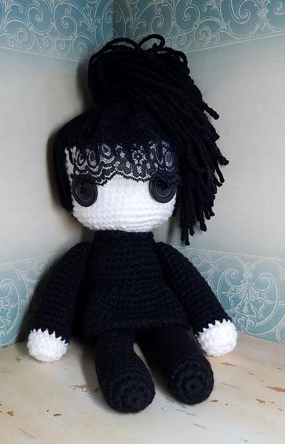 Beetlejuice-Inspired Crochet Amigurumi Dolls - Love The Hair, Love Lydia Deetz's Lace!