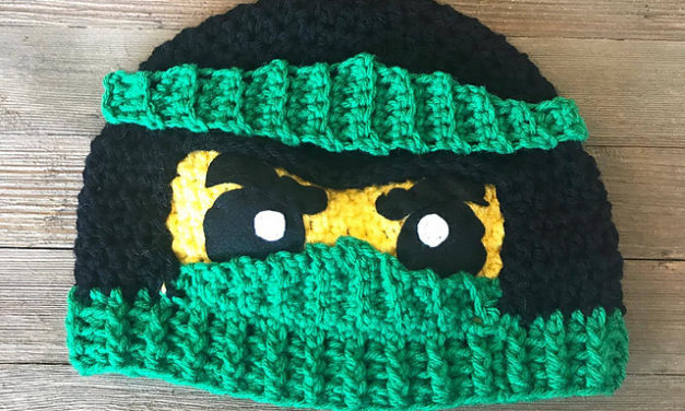Crochet a Ninjago Helmut or Hat – Pattern Comes In Two Fun Styles!