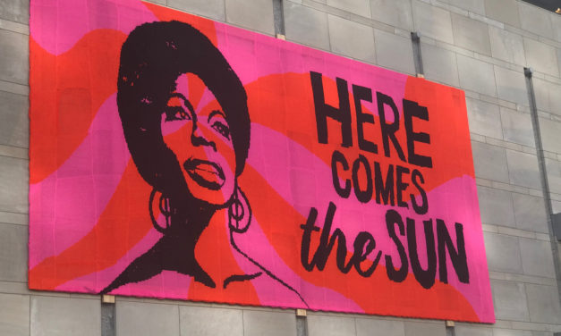 """MUST-SEE! 40ft Crocheted Nina Simone Mural, the Third Offering in Olek's """"Love Across the USA"""" Project"""