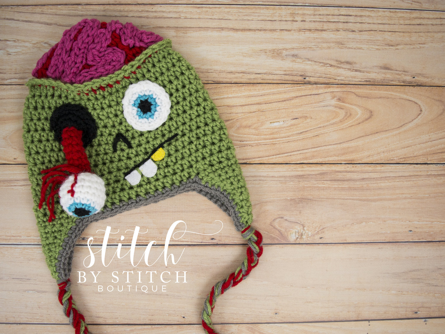 Crochet a Zombie Hat for Halloween With This Free Pattern ? BRAAAAINS!